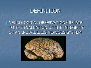 NEUROLOGICAL OBSERVATIONS