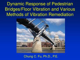 Dynamic Response of Pedestrian Bridges
