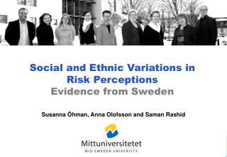 Social and Ethnic Variations in Risk Perceptions  Evidence from Sweden