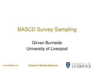 BASCD Survey Sampling