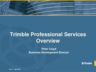 Trimble Professional Services Overview