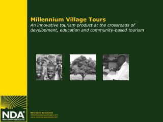 Millennium Village Tours An innovative tourism product at the crossroads of development, education and community-based t