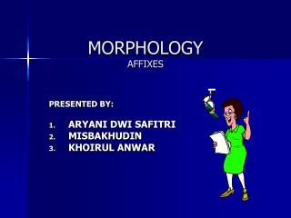 MORPHOLOGY AFFIXES