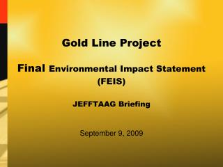 Gold Line Project