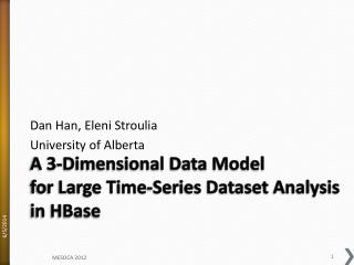 A 3-Dimensional Data Model  for Large Time-Series Dataset Analysis in HBase