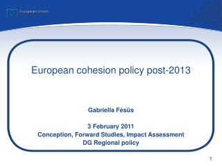 European cohesion policy post-2013