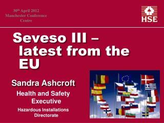 Seveso III   latest from the EU