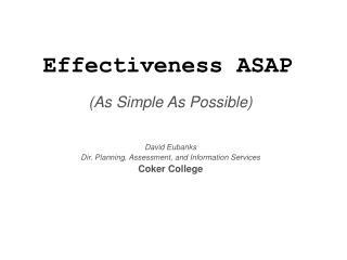 Effectiveness ASAP
