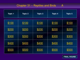 Chapter 31   Reptiles and Birds       A