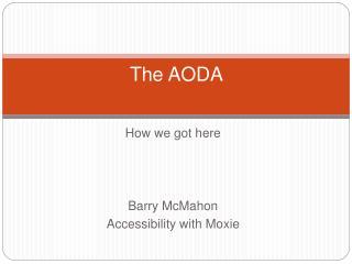 The AODA