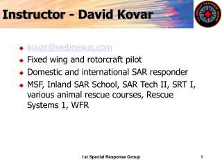 Instructor - David Kovar