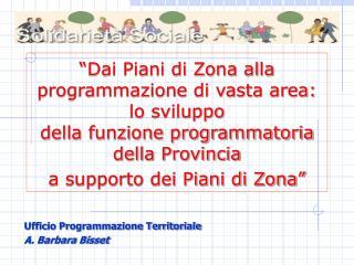 Dai Piani di Zona alla programmazione di vasta area: lo sviluppo  della funzione programmatoria della Provincia  a supp