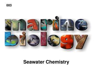 Seawater Chemistry