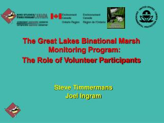 The Great Lakes Binational Marsh Monitoring Program: The Role of Volunteer Participants