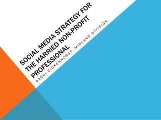 Social media strategy for the harried non-profit professional