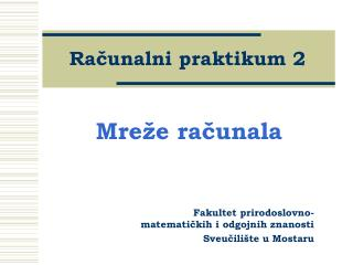 Racunalni praktikum 2