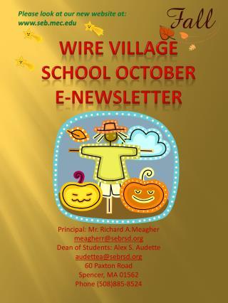 Wire Village School October  E-Newsletter
