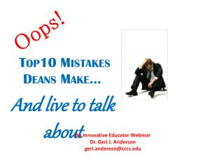 Top10 Mistakes  Deans Make