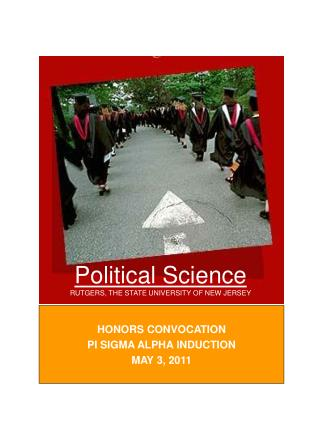 Political Science RUTGERS, THE STATE UNIVERSITY OF NEW JERSEY