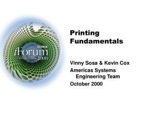Printing Fundamentals