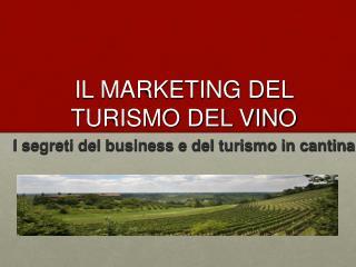 IL MARKETING DEL TURISMO DEL VINO