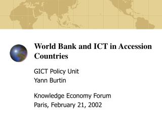 World Bank and ICT in Accession Countries