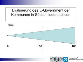 Evaluierung des E-Government der Kommunen in S dostniedersachsen