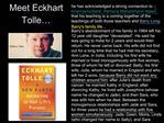 Meet Eckhart Tolle