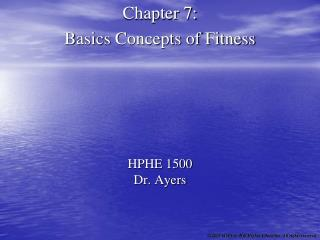 HPHE 1500 Dr. Ayers