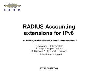 RADIUS Accounting extensions for IPv6