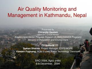 Air Quality Monitoring and Management in Kathmandu, Nepal
