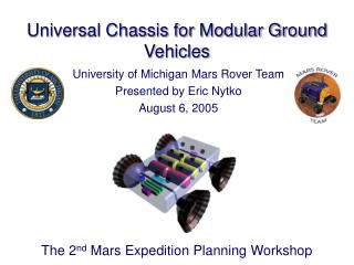 Universal Chassis for Modular Ground Vehicles
