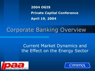 Corporate Banking Overview