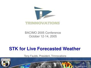 STK for Live Forecasted Weather
