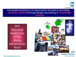 E2e people practices is an organization focused on providing business solutions through people specializing in knowledge