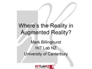Where s the Reality in  Augmented Reality