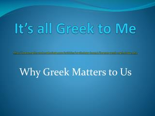 It s all Greek to Me  myths-and-mythology
