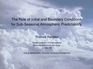 The Role of Initial and Boundary Conditions  for Sub-Seasonal Atmospheric Predictability