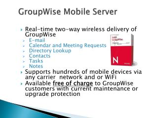 GroupWise Mobile Server