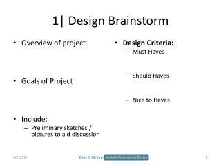1 Design Brainstorm