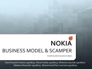 NOKIA  BUSINESS MODEL  SCAMPER