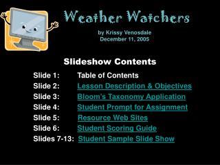 Slideshow Contents