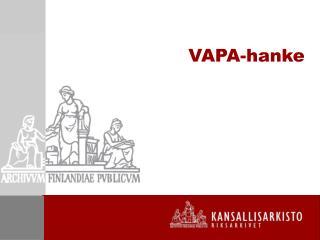 VAPA-hanke