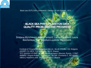BLACK SEA PHYTOPLANKTON DATA QUALITY- PROBLEMS AND PROGRESS