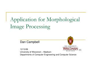 Application for Morphological Image Processing