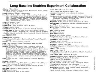Long-Baseline Neutrino Experiment Collaboration