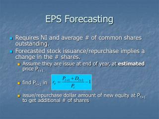 EPS Forecasting