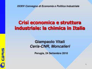 Crisi economica e struttura industriale: la chimica in Italia
