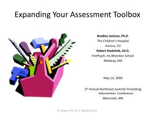Expanding Your Assessment Toolbox