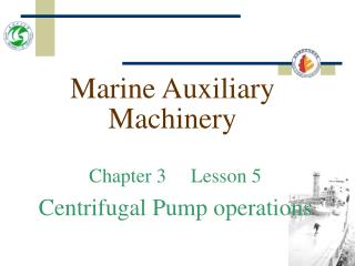 Marine Auxiliary Machinery